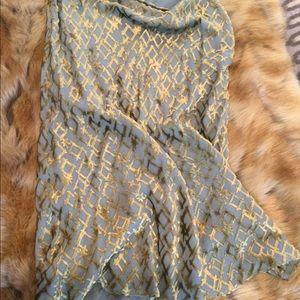 Catherine Malandrino bluish gray silk skirt
